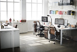 Fototapety Contemporary Room Workplace Office Supplies Concept