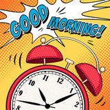 Comic illustration with alarm clock in pop art style - 99919763