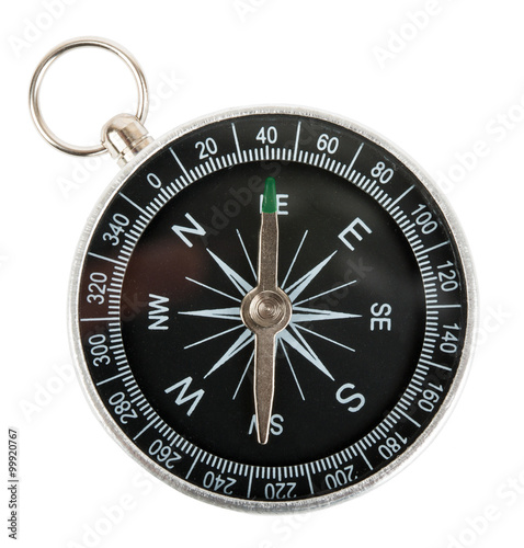 Compass on white Poster