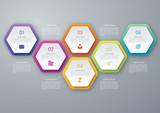 Fototapety Vector circle hexagon infographic