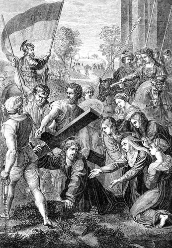 wygrawerowany-obraz-przedstawiajacy-ukrzyzowanie-jezusa-chrystusa-z-wiktorianskiej-biblii-z-1883-roku-ktorego-nie-ma-juz-w-prawach-autorskich