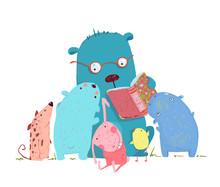 Bär-Lesebuch für die Gruppe von Animal Kids