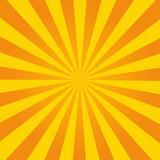 Fototapety Retro ray orange background in vintage style