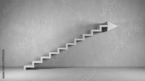 Business Hintergrund mit Treppe als Pfeil