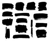 Black brush strokes set - 99968901