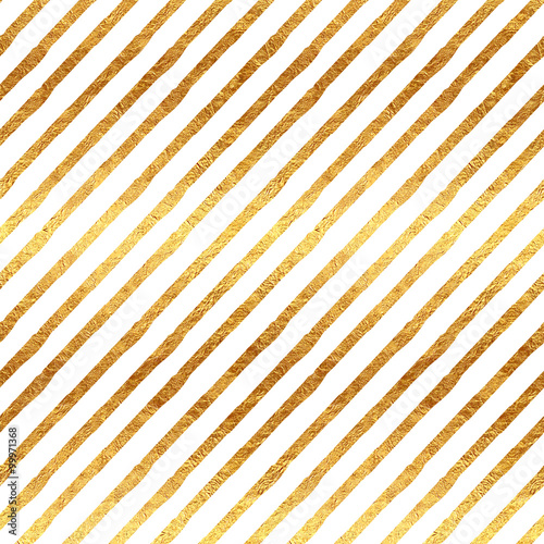 Złote paski faux metalowy biały wzór tła