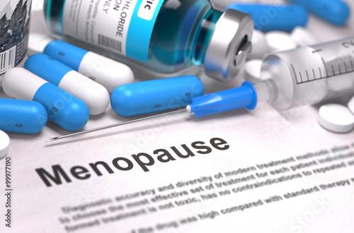 Diagnosis - Menopause. Medical Concept. 3D Render.