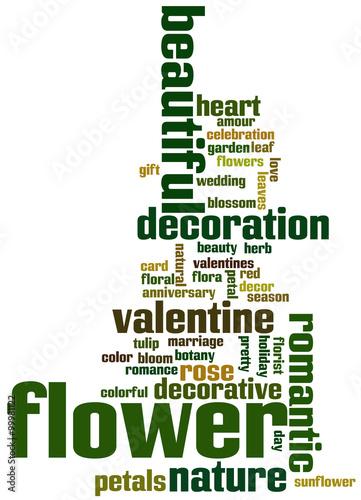 flower word cloud concept 3 stockfotos und lizenzfreie bilder auf bild 99981122. Black Bedroom Furniture Sets. Home Design Ideas