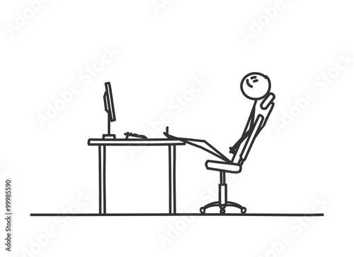 Strichmannchen Schreibtisch