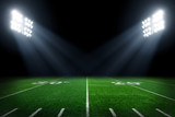 Football field illuminated by stadium lights © Mariusz Blach