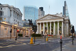 Obrazy na płótnie, fototapety, zdjęcia, fotoobrazy drukowane : London Royal Exchange, shopping centre and Bank of England