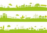 Bannières ville et campagne / Écologie  - 100018107