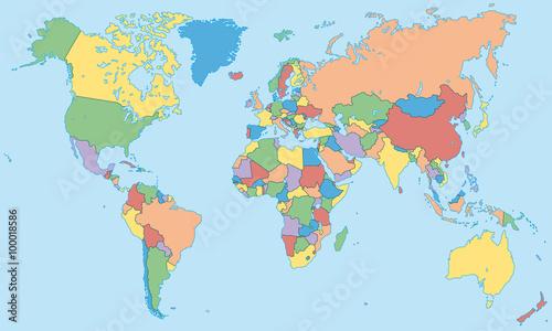weltkarte länder beschriftet GamesAgeddon   Weltkarte   einzelne Länder in Farbe   Lizenzfreie  weltkarte länder beschriftet