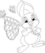 Easter Rabbit Coloring Page