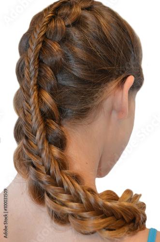 Fototapeta Прическа с длинных волос