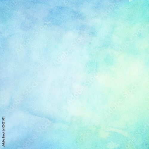 Abstract blue painted watercolor gradient for your design - 100031951