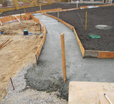 Building new concrete pavement in the garden. - 100040548