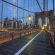 Obrazy na płótnie, fototapety, zdjęcia, fotoobrazy drukowane : View on Brooklyn Bridge by night