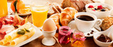 Breakfast feast on table