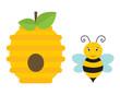 Obrazy na płótnie, fototapety, zdjęcia, fotoobrazy drukowane : bee house and bee