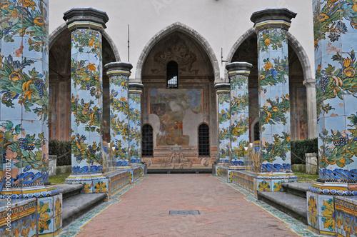 Tuinposter Napels Napoli, il Chiostro di Santa Chiara - Spaccanapoli
