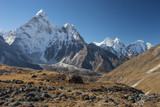 Ama Dablam mountain peak from Kongma la pass