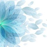 Floral round pattern of blue flower petals - 100099590