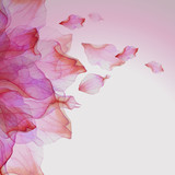 Watercolor floral  pattern with petals - 100100388