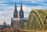 Cologne Cathedral and Hohenzollern Bridge, Cologne, Germany - 100101702