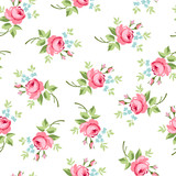 Seamless floral pattern with little red roses - 100109598