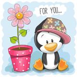 Penguin with flower