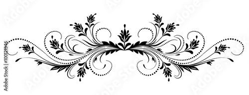 Naklejka Decorative floral ornament