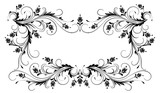 Decorative floral frame with ornament in retro style