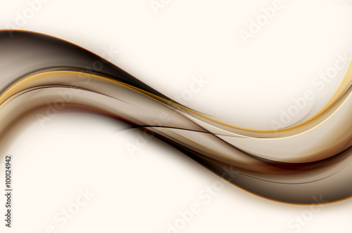 Cool Abstract Brown Wave Design Background