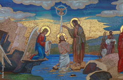 Religion. Mosaic of Saints. Orthodox church in Kirowograd Ukraine Poster