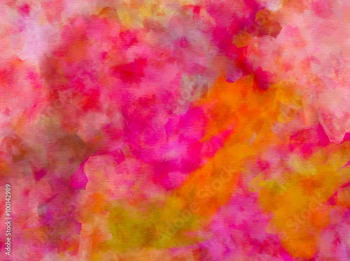 Purple Pink Orange Red Green Watercolor Paper Texture Background