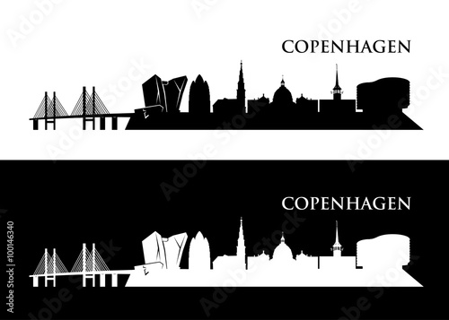 Póster Copenhague horizonte