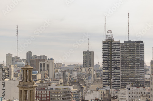 Foto op Aluminium New York Aerial View of Buenos Aires from Panoramic Viewpoint