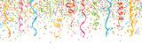 Konfetti mit Luftschlangen bunt - 100155772