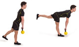 Kettle bell, Uni Stiff Leg, Exercise