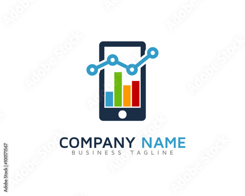 """Mobile Stats Marketing Logo Design Template"" Stock image ..."
