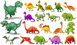 Different kind of dinosaurs - 100174731