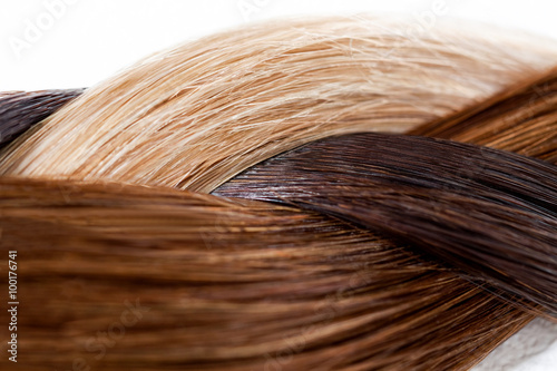 Plakát Braid of Various Hair Colors
