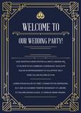 Gatsby Style Invitation in Art Deco or Nouveau Epoch 1920
