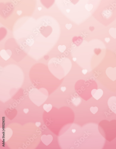 pink background with  valentine hearts ,  vector
