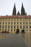 PRAGUE, CZECH REPUBLIC - APRIL 29, 2013: The Second Courtyard in Prague Castle, Prague, Czech Republic