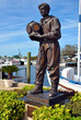 Statue of an early sponge Diver in Tarpon Springs, Florida