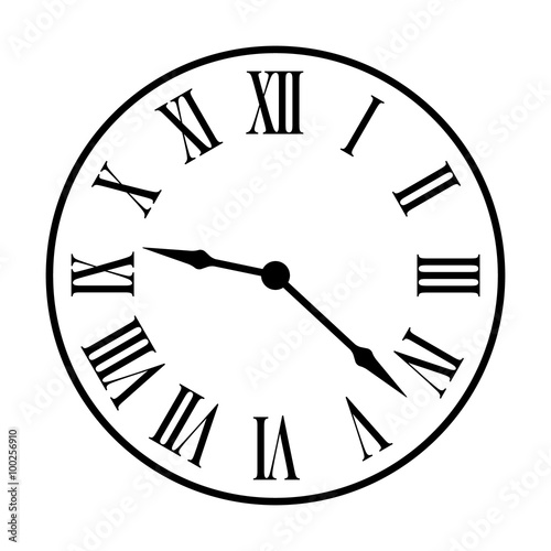 Line Drawing Clock Face : Quot old fashion vintage clock face line art icon for apps and