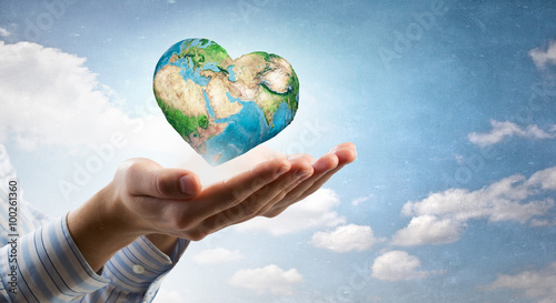 Foto Murales Future of our planet in your hands