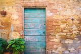 Old door in medieval town